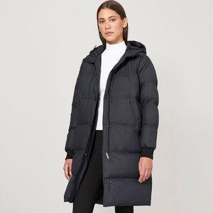 Everlane long puffer coat down jacket xs